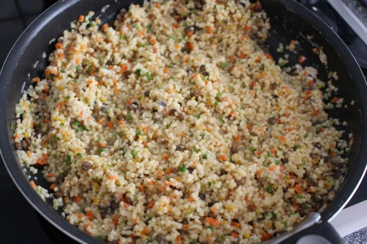 Courgettes farcies céréales et tofu (4)