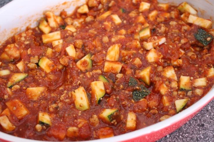 Courgettes farcies céréales et tofu (6)