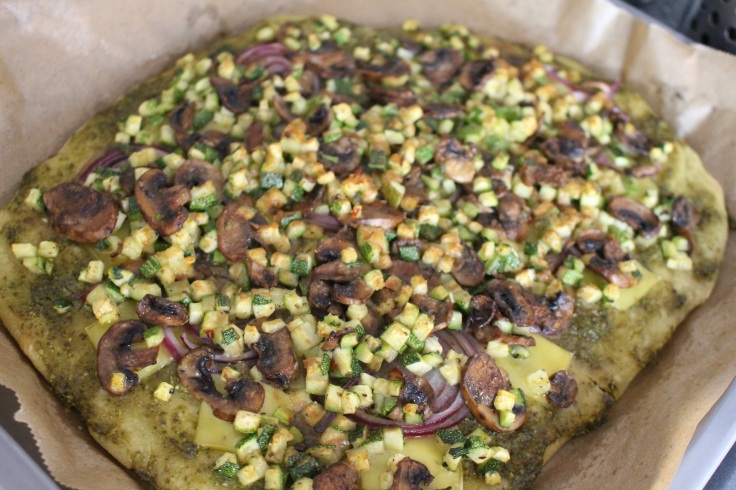 Pizza express vegan au pesto et courgette (10)